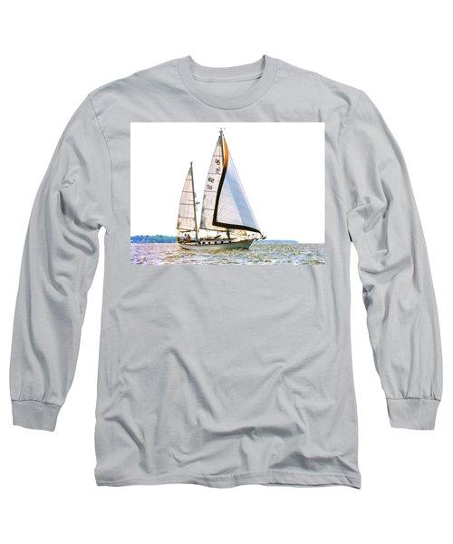 Shannon 38 Kittiwake On Chesapeake Bay Long Sleeve T-Shirt