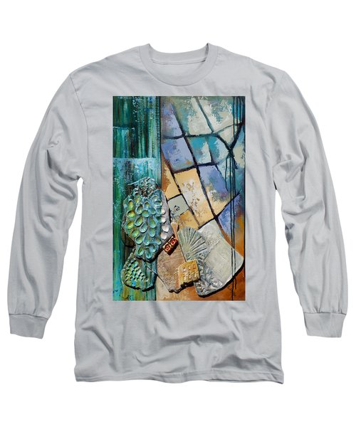 Shards Water Clay And Fire Long Sleeve T-Shirt by Suzanne McKee