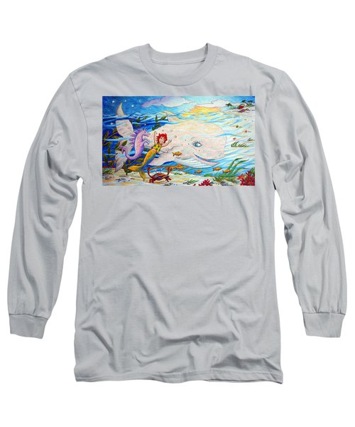 She Joyfully Swims  Long Sleeve T-Shirt by Matt Konar