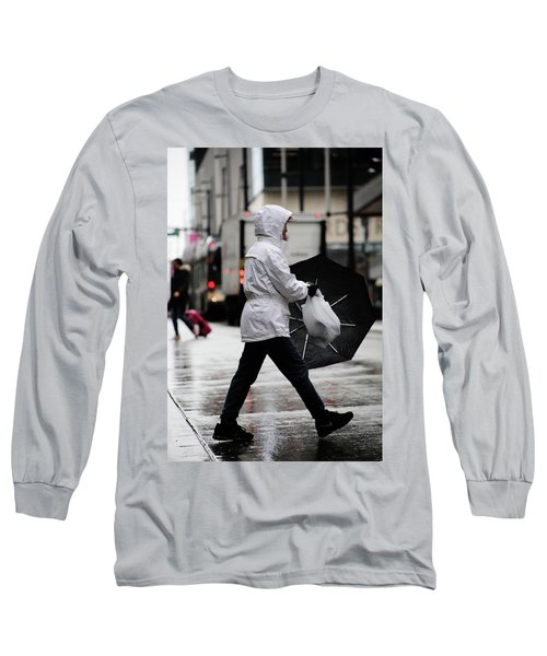 Sheild Of Rain  Long Sleeve T-Shirt by Empty Wall