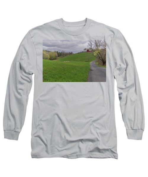 Shelburne Country Road Long Sleeve T-Shirt by Tom Singleton