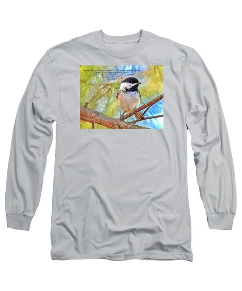 Shelter Among It's Branches Long Sleeve T-Shirt by Sara Raber