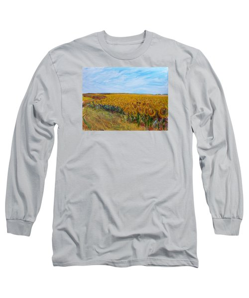Sunny Faces Long Sleeve T-Shirt by Helen Campbell