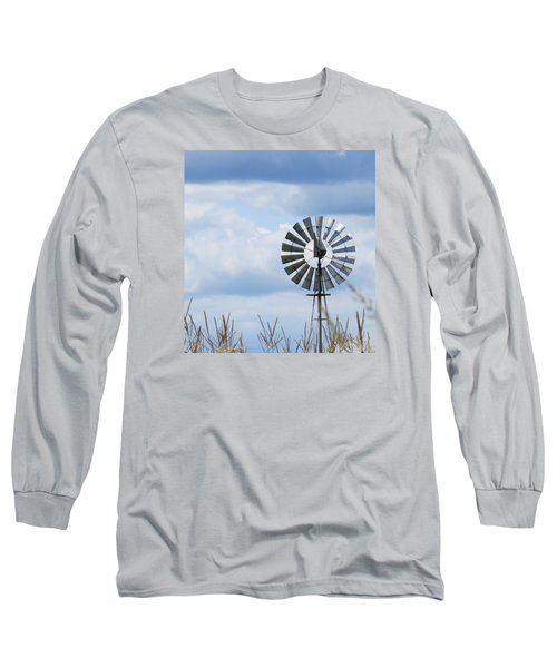 Shiny Windmill Long Sleeve T-Shirt by Jeanette Oberholtzer