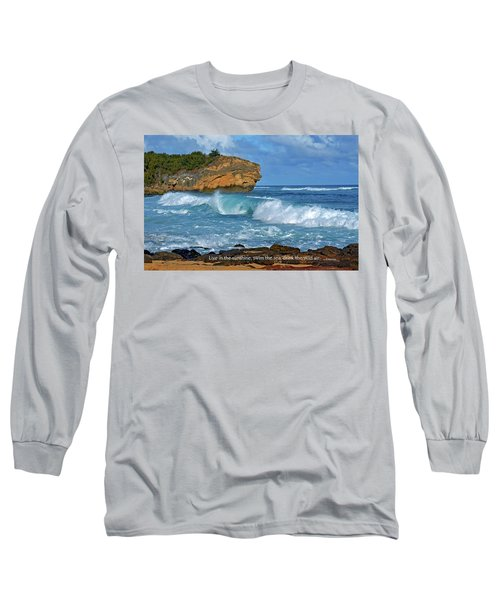 Shipwreck Beach Shorebreaks 2 Long Sleeve T-Shirt by Marie Hicks