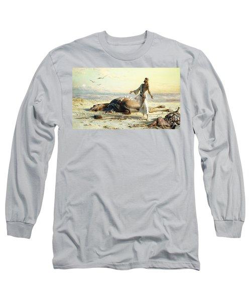 Shipwreck In The Desert Long Sleeve T-Shirt