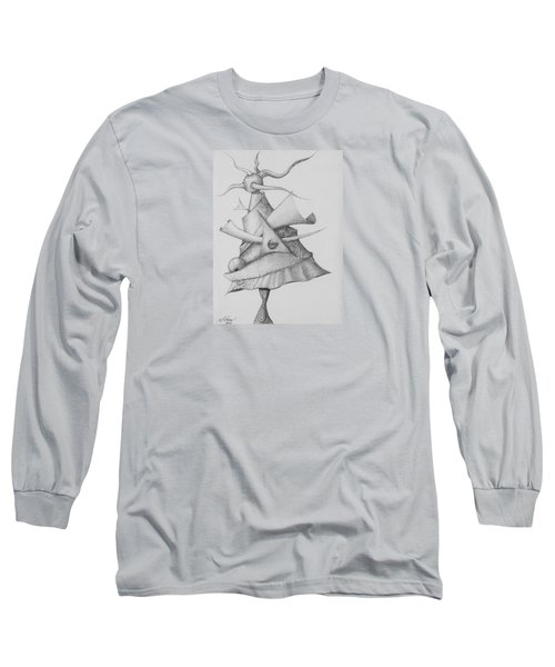 Long Sleeve T-Shirt featuring the drawing Plasma Tree by Charles Bates