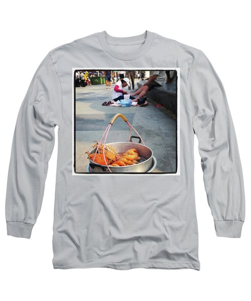 Long Sleeve T-Shirt featuring the photograph Shrimping And Crabbing On The by Mr Photojimsf