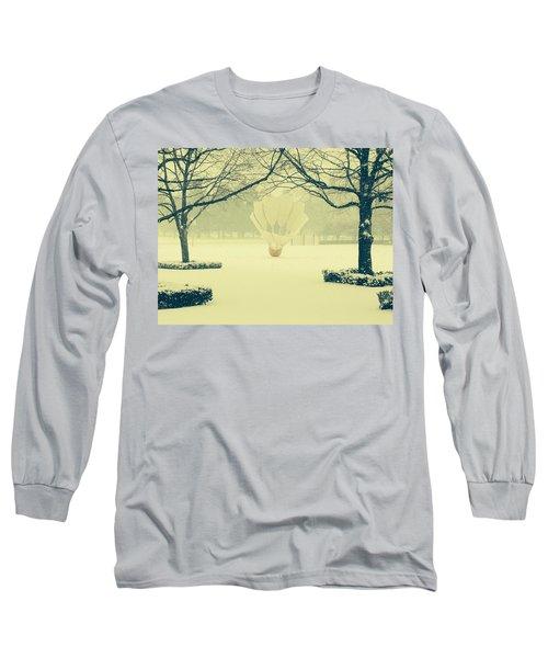 Shuttlecock In The Snow Long Sleeve T-Shirt