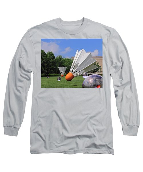 Long Sleeve T-Shirt featuring the photograph Shuttlecock Visitors by Christopher McKenzie
