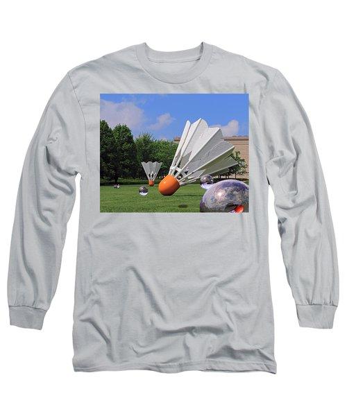 Shuttlecock Visitors Long Sleeve T-Shirt by Christopher McKenzie