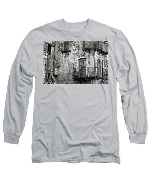 Sicilian Medieval Facade Long Sleeve T-Shirt