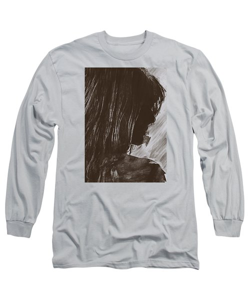 Long Sleeve T-Shirt featuring the digital art Sienna by Galen Valle