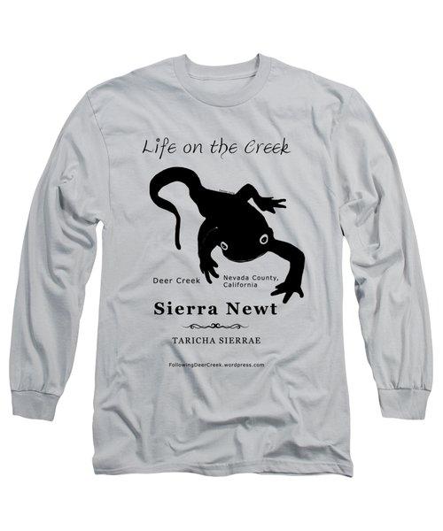 Sierra Newt - Black Long Sleeve T-Shirt