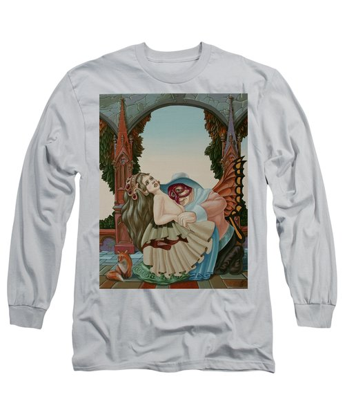 Sigmund Freud With A Fox Long Sleeve T-Shirt