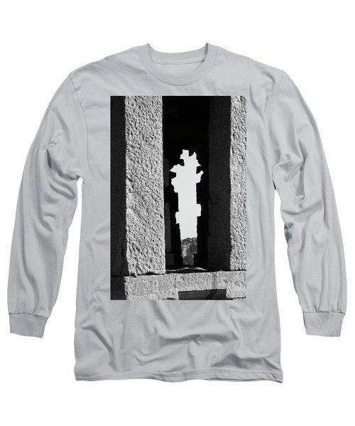 Long Sleeve T-Shirt featuring the photograph Silhouette Of Pillars, Hampi, 2017 by Hitendra SINKAR