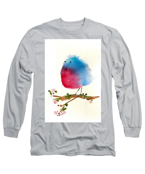 Silly Bird #1 Long Sleeve T-Shirt by Anne Duke