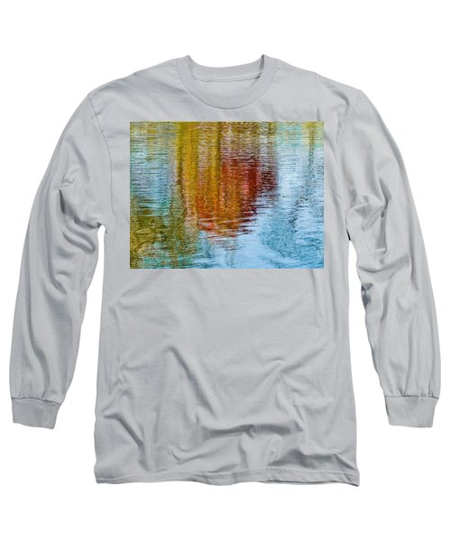 Silver Lake Autumn Reflections Long Sleeve T-Shirt by Michael Bessler