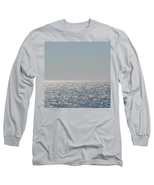 Silver Light On Lake Michigan Long Sleeve T-Shirt