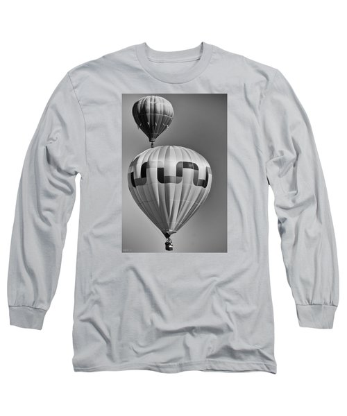 Silver Sky Balloons Long Sleeve T-Shirt by Kevin Munro