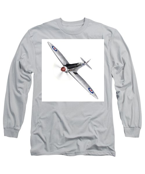 Silver Spitfire Pr Xix Cutout Long Sleeve T-Shirt by Gary Eason