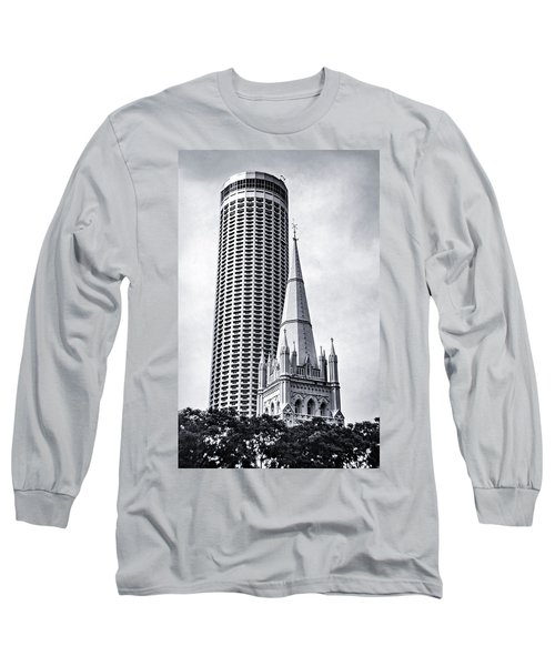 Singapore Architecture Long Sleeve T-Shirt
