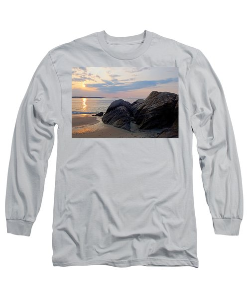 Singing Beach Rocky Sunrise Manchester By The Sea Ma Long Sleeve T-Shirt