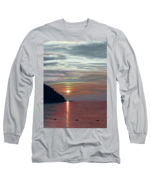 Sister Bay Sunset Long Sleeve T-Shirt