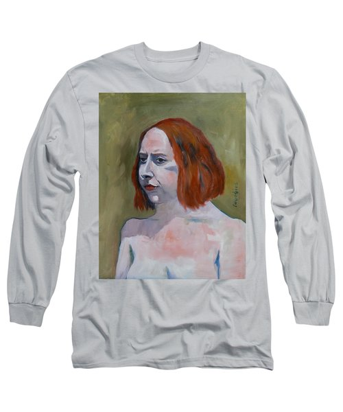 Sketch For Jessica I Long Sleeve T-Shirt by Ray Agius