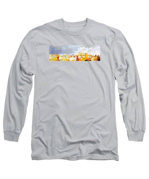 Skyline Cambridge, Uk Long Sleeve T-Shirt by Melissa Abbott