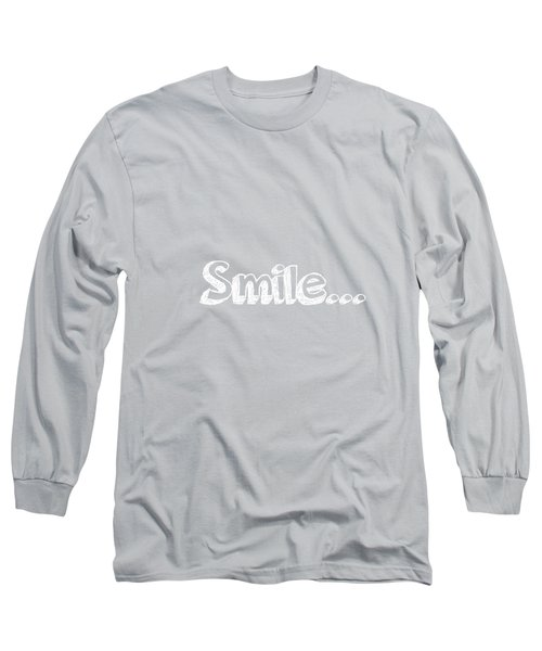 Smile Long Sleeve T-Shirt by Inspired Arts