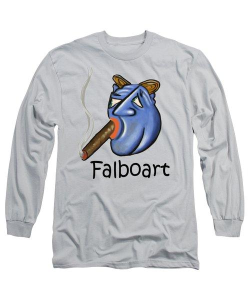 Smoking Blue Man Long Sleeve T-Shirt