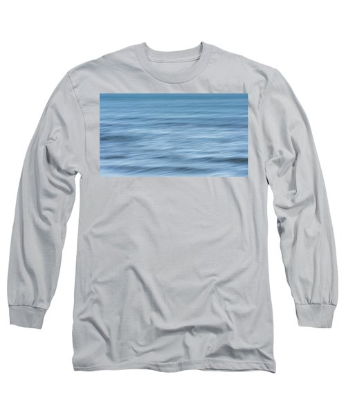 Smooth Blue Abstract Long Sleeve T-Shirt by Terry DeLuco