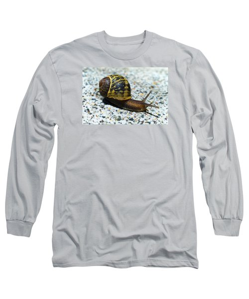 Long Sleeve T-Shirt featuring the photograph Snailing Alone 01 by Kevin Chippindall
