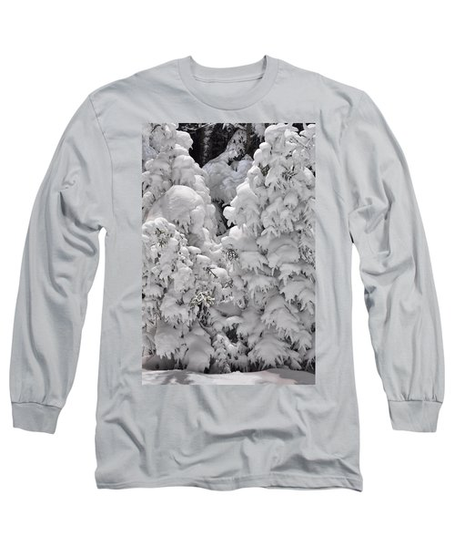 Long Sleeve T-Shirt featuring the photograph Snow Coat by Alex Grichenko