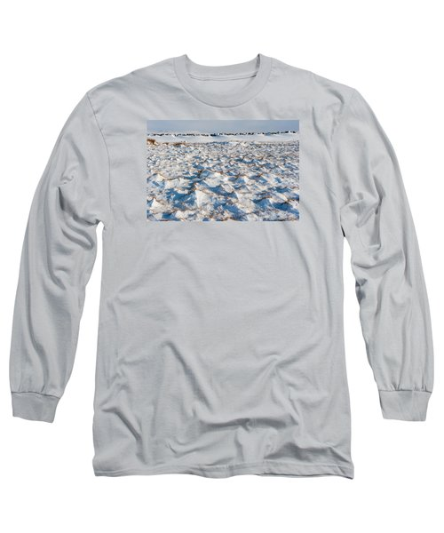 Snow Covered Grass Long Sleeve T-Shirt
