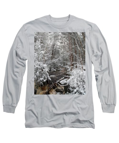Snow Covered River Long Sleeve T-Shirt