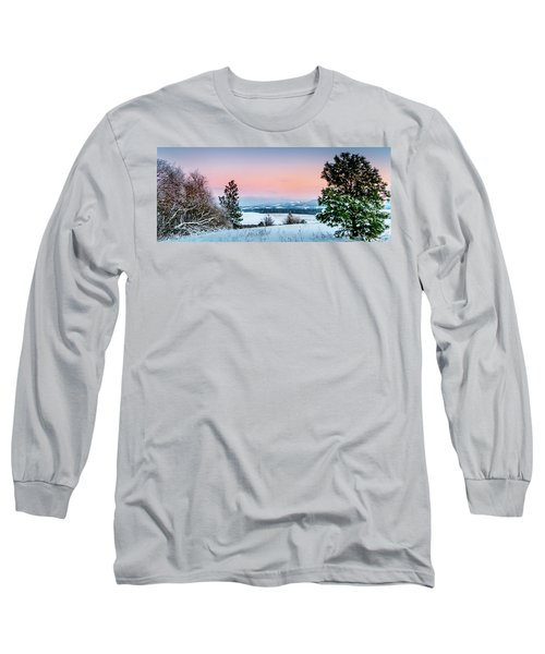 Snow Covered Valley Long Sleeve T-Shirt