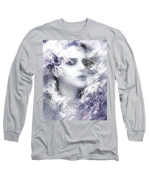 Long Sleeve T-Shirt featuring the digital art Snow Fairy  by Gun Legler