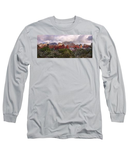 Snow In Heaven Panorama Long Sleeve T-Shirt