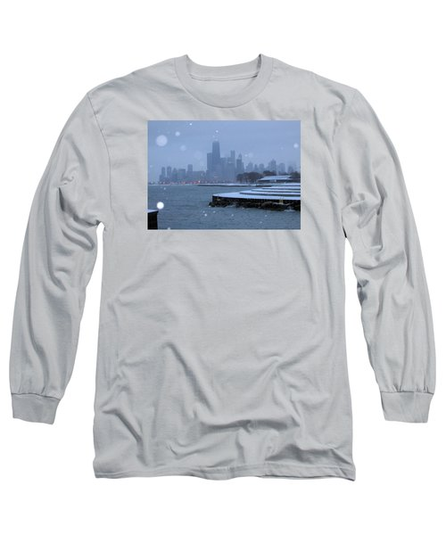 Snowy Chicago Long Sleeve T-Shirt