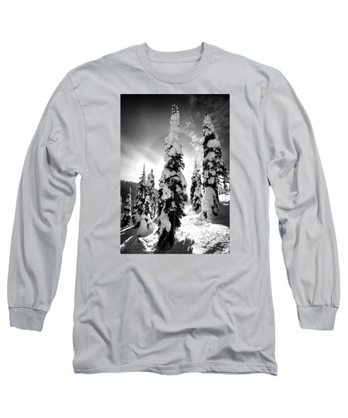Snow Laden Tree Long Sleeve T-Shirt