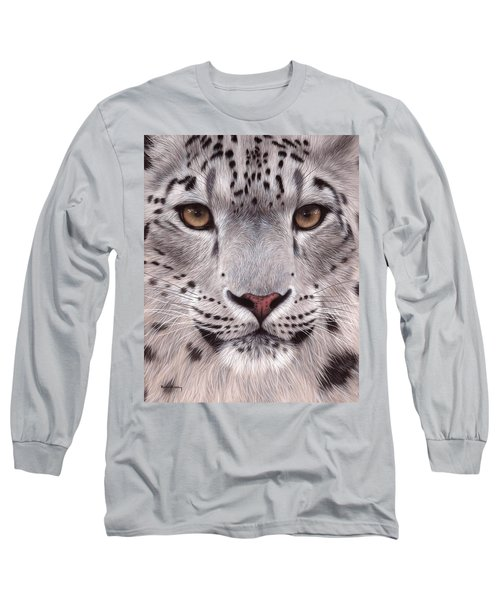 Snow Leopard Face Long Sleeve T-Shirt
