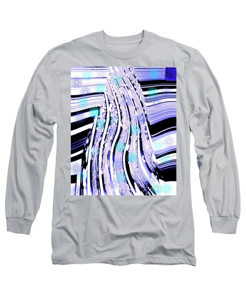 Long Sleeve T-Shirt featuring the digital art Snow On Ski Mountain by Marsha Heiken