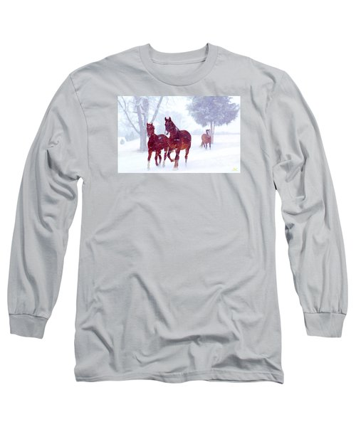 Snow Run Long Sleeve T-Shirt