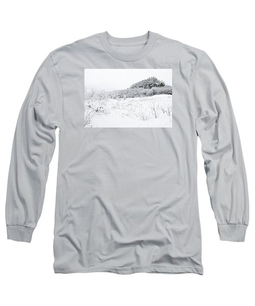 Long Sleeve T-Shirt featuring the photograph Snow Scene by Larry Ricker