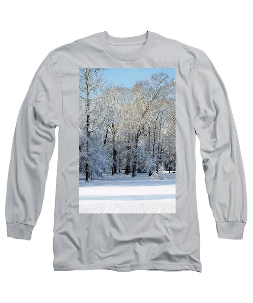 Snow Scene One Long Sleeve T-Shirt by Donna Bentley