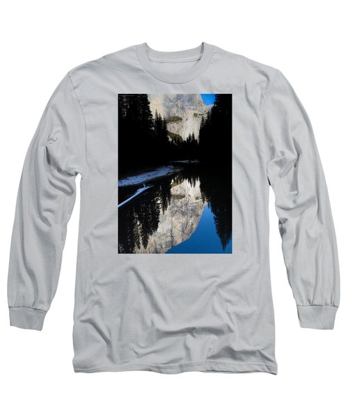 Long Sleeve T-Shirt featuring the photograph Snow Sneaks In by Lora Lee Chapman