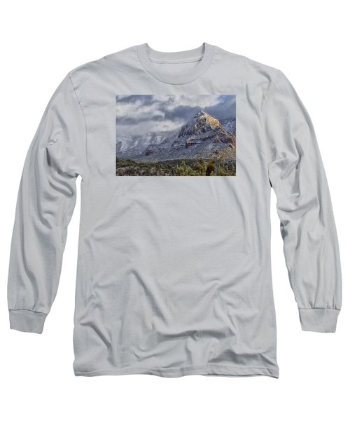 Long Sleeve T-Shirt featuring the photograph Snowbreak by Tom Kelly