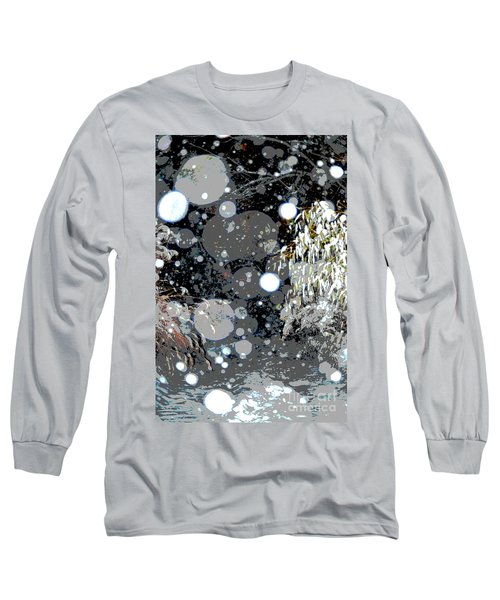 Long Sleeve T-Shirt featuring the photograph Snowfall Deconstructed by Li Newton